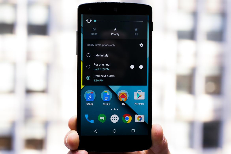 با فشار دادن دکمه صدا روی صفحه اصلی (Home Screen) در یک دستگاهی که اندروید 5.1 را اجرا می کند، یک مجموعه جدید از آیکون های تنظیم صدا نمایش داده خواهد شد.