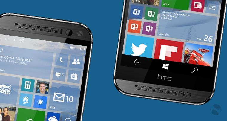 HTC One M8 ویندوزی اولین گوشی غیر لومیا برای گرفتن پیش نمایش ویندوز 10 است