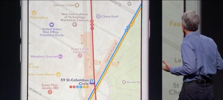 ساعت 10:50 : نقشه ها برای نشان دادن مسیرهای حمل و نقل عمومی در مناطق شهری علی الخصوص در چین بهبود بسیاری یافته است. این نقشه ورودی و خروجی های ایستگاه قطار و اتوبان ها را می داند، بنابراین این برنامه می تواند شما را در مسیرهای پیاده رو طوری هدایت نماید تا به موقع به قطار برسید! البته در شهرهای محدودی اجرا خواهد شد.