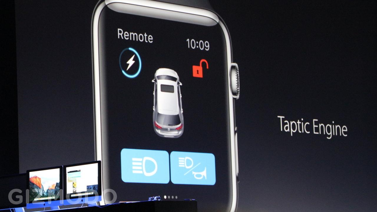 ساعت 11:36 : شما اکنون می توانید از طریق اتصال وای فای نیز به اپل واچ دسترسی داشته باشید، بنابراین می تواند با آیفونتان ارتباط برقرار کند حتی اگر آن ها در یک اتاق نیز قرار نداشته باشند. اندروید ور هم به تازگی چیزی شبیه به این اضافه کرده است. برنامه های می توانند از طریق اسپیکر اپل واچ آهنگ اجرا کرده و از میکروفون استفاده کنند بنابراین شما می توانید از شزم (Shazam) استفاده کنید بدون اینکه مجبور باشید گوشی خود را از جیبتان درآورید.