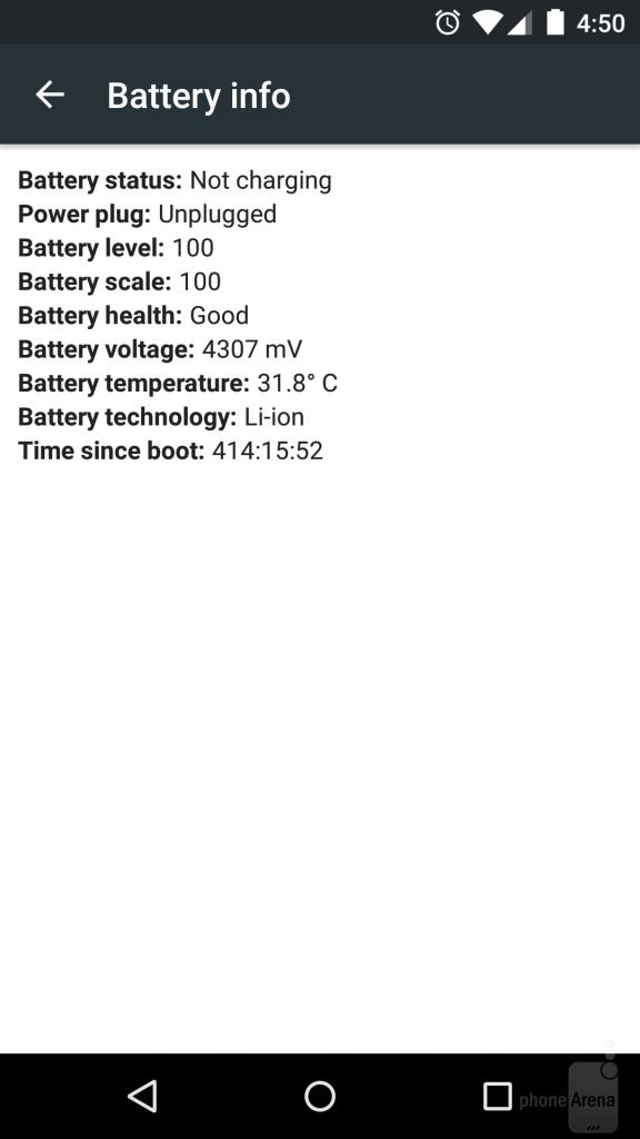 اطلاعات باتری ( شامل سلامتی ، ولتاژ و درجه حرارت)