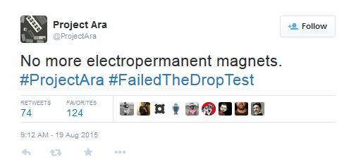 یک توییت شامل هشتگ FailedTheDropTest# است که قطعا یک نگرانی برای گوگل به حساب می آید.
