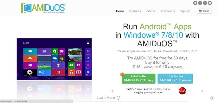 همان طور که اشاره شد شما به AMIDuOS نیاز خواهید داشت، این صفحه رسمی آن است و اینجا لینک رسمی دانلود وجود دارد.