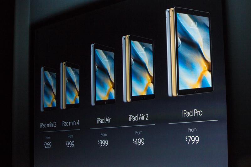 در تصویر زیر می توانید شاهد قیمت تمامی آیپد های عرضه شده باشید.