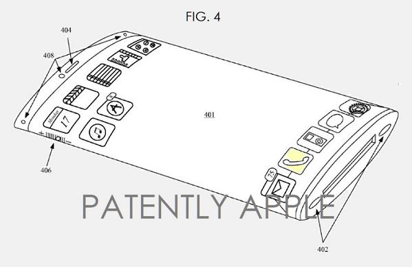 اپل، پتنتی را دریافت می کند که می تواند منجر به ساخت آیفون ۷ با یک صفحه نمایش منحنی و انعطاف پذیر شود