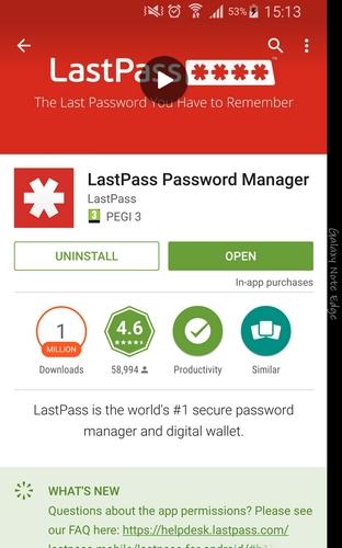 اولین مرحله دانلود این برنامه می باشد. LastPass رایگان می باشد اما اگر می خواهید یک عضو پریمیوم شوید، یک اشتراک وجود دارد.