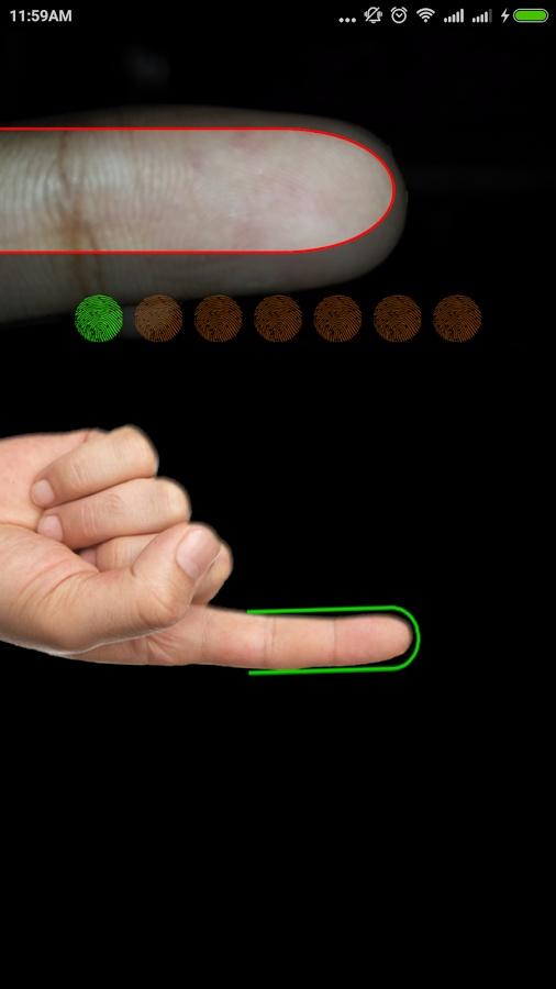به محض راه اندازی اولیه، کاربر از طریق اسکن اثر انگشت وارد آن می شود