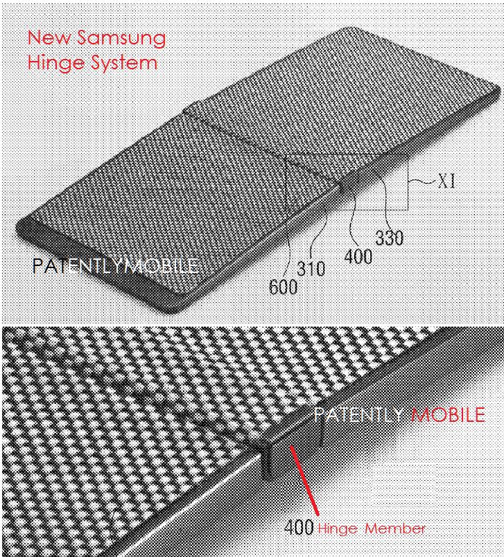در واقع یک صفحه ی پارچه ای مش مانند وجود دارد که به عنوان یک کاور بر روی صفحه نمایش تا شوی آمولد (AMOLED) قرار می گیرد.