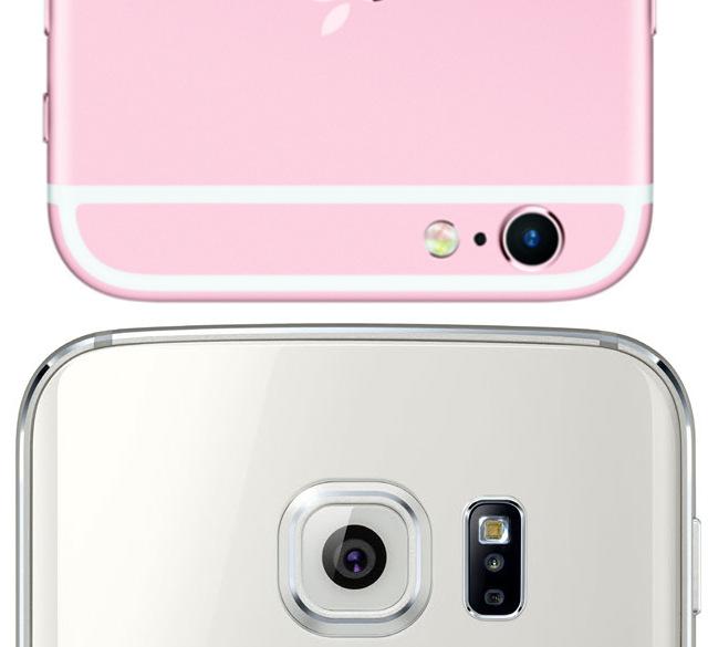 ما در گوشی گلکسی اس۶ شاهد یک دوربین ۱۶ مگا پیکسلی در عقب می باشیم که تصاویر بزرگتری از دوربین ۱۲ مگا پیکسلی iSight جدید ایفون ۶اس می گیرد.