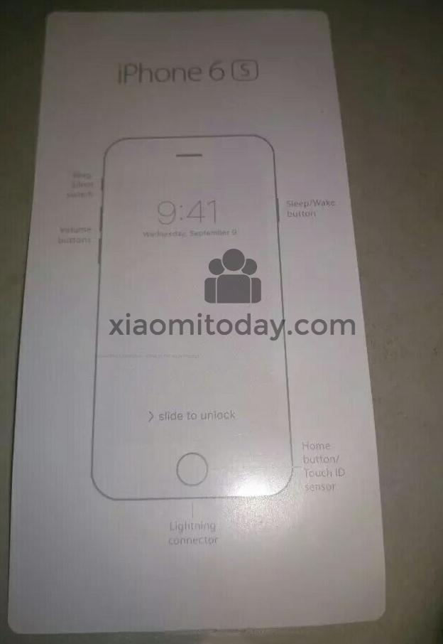 تصویری که موقعیت دکمه آیفون 6S اپل را تایید می کند