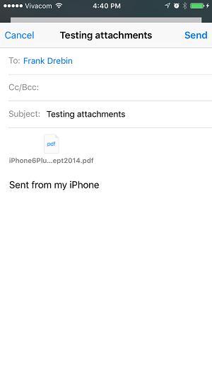 و در این مرحله هم فایل پی دی اف را به عنوان یک پیوست بر روی ایمیل مشاهده می کنید.