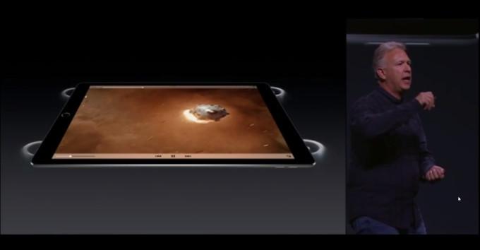 آیپد پرو ۱۲.۹ اینچی با ۴ اسپیکر استریو و صدایی سه برابر صدای آیپد ایر ۲ همراه می شود