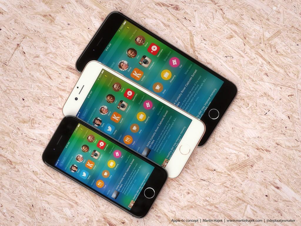 گوشی ۴ اینچی آیفون 6c. بنا به گزارش، احتمالا این گوشی آیفون 6c صفحه نمایش ۴ اینچی را به نمایش می گذارد، بدیهی است که این گوشی جانشین گوشی آیفون 5c سال ۲۰۱۳ باشد.