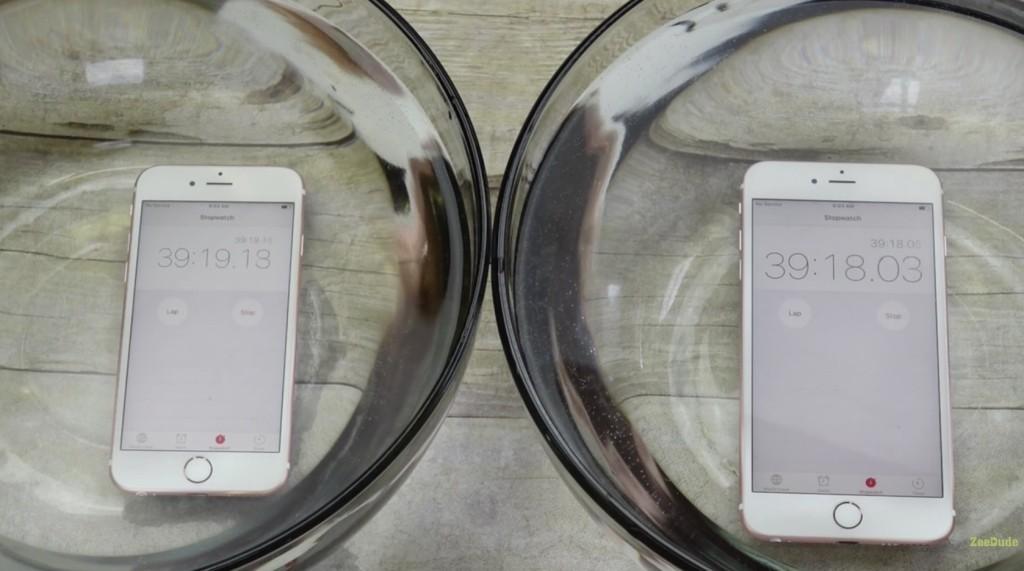 تست مقاومت آب برای آیفون 6 اس و آیفون 6 اس پلاس اپل