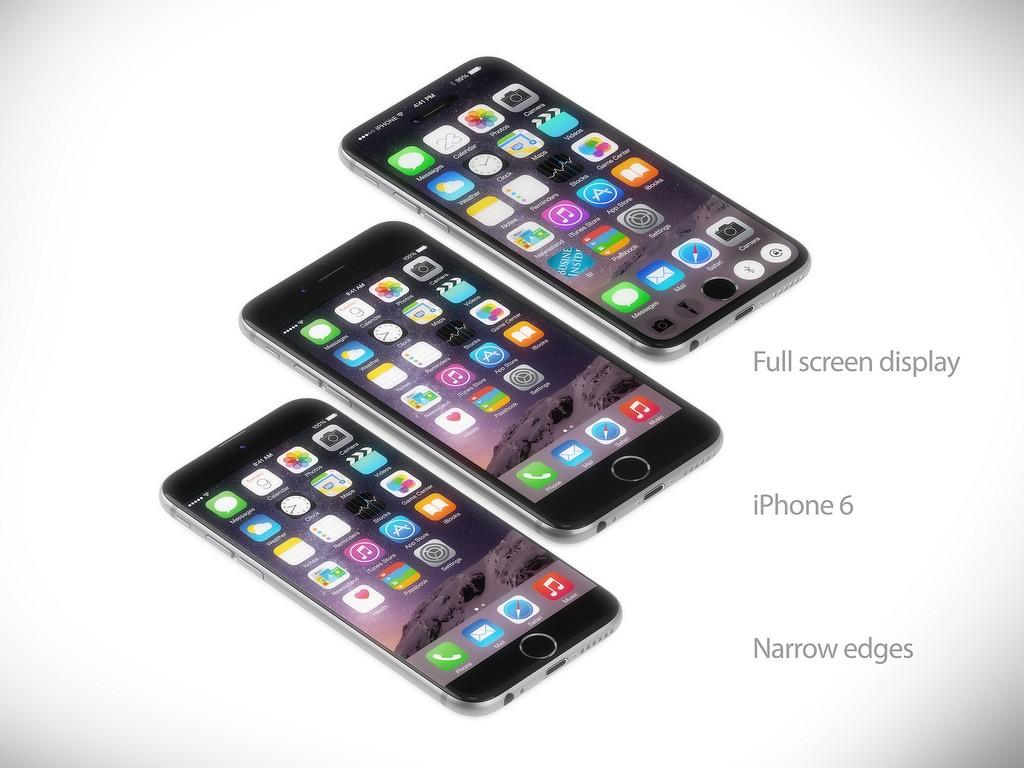 اپل یک دید و چشم اندازی ایده آل از آیفون های بدون هیچ گونه دکمه، حتی کلید های صفحه اصلی (home) و کلید کم و زیاد کردن صدا دارد.