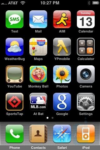 سیستم عامل iPhone OS 2.x، نسخه دوم این پلت فرم بود که در سال 2008 عرضه شد و برخی از چاله های بزرگ پلت فرم اپل را پر کرد. مهمتر از همه، اپل استور را معرفی کرد که به کاربر اجازه می داد بازی ها یا نرم افزار های کاربردی را دانلود کنند. بدیهی است که این نسخه موارد بسیار دیگری نیز، به ارمغان آورد، در این میان برجسته ترین آنها برنامه مستقل اطلاعات تماس (قبلا اطلاعات تماس در دفترچه تلفن، از طریق برنامه تلفن در دسترس بودند) مجهز به جستجو و شسته و رفته، همچنین ماشین حساب علمی با قابلیت های غنی جدید که امکان حل مسائل پیچیده تر را امکان پذیر می ساخت، می باشند.