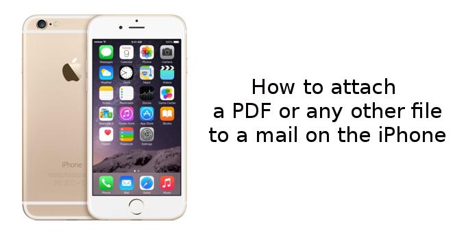 چگونه یک فایل پی دی اف و یا هر فایل دیگری را به یک پست الکترونیکی بر روی iOS پیوست کنیم (آموزش iOS 9)