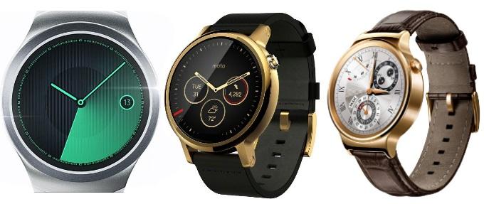 مقایسه ساعت های هوشمند سامسونگ گیر اس 2، موتو 360 (2015) و هواوی واچ