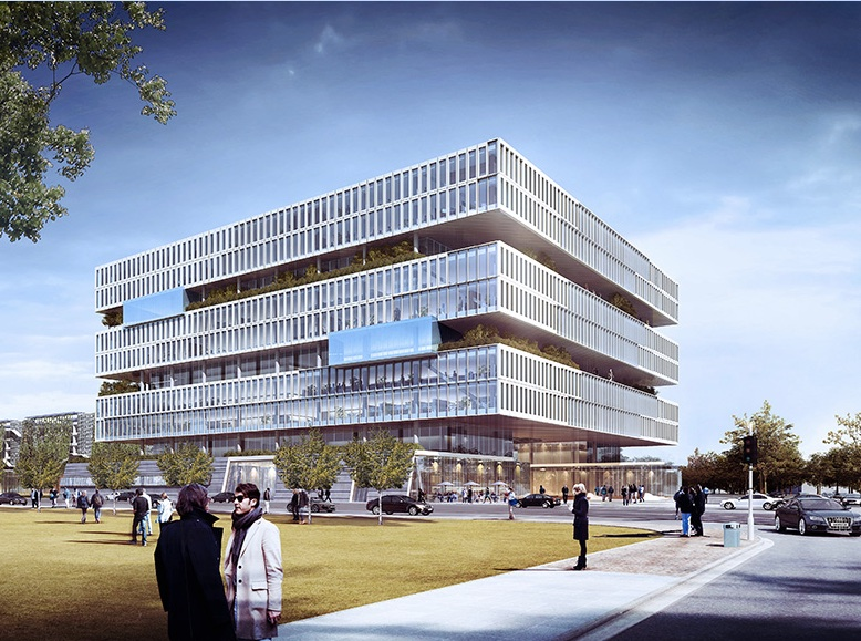 این شرکت در سال 2013 و در طی یک همکاری با شرکت معماری و طراحی NBBJ - که طراحی این سازه غول پیکر را بر عهده داشت - تصمیم به ساخت این دفتر جدیدش در دره سیلیکون گرفت. این دفتر از یک طراحی باز با امکاناتی نظیر حیاط، باغچه هایی در هر طبقه، فضای آزمایشگاهی، باشگاه ورزشی و ... تشکیل شده است.