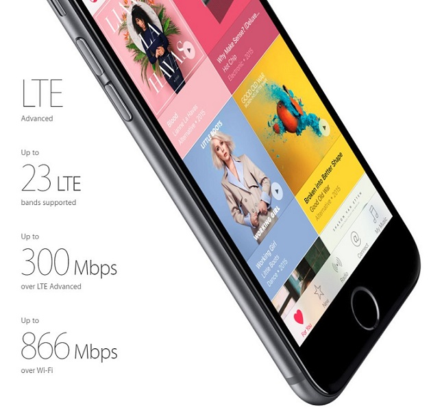 آیفون 6S جدید اپل می توانند شما را به بالاترین میزان شبکه LTE که در هر گوشی هوشمندی پشتیبانی می شود، متصل کنند و با پشتیبانی از 23 باند LTE، پرچمدار پشتیبانی از این باندها در گوشی های هوشمند باشند – رکورد قبلی این عدد نیز متعلق به اپل و آیفون 6 بود که 20 باند LTE را پشتیبانی می کرد.