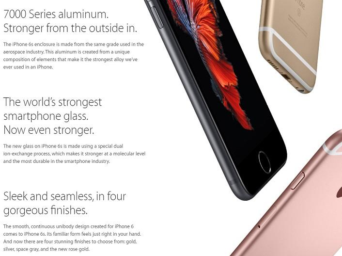در گوشی هوشمند گلکسی S6 سامسونگ، از آلیاژ سری 6013 آلومینیوم استفاده شده و این در حالی است که بسیاری از گوشی های هوشمند و همچنین آیفون 6، مشتق شده از کلاس پایین تر، سری 6063، استفاده کرده اند – به عنوان گواهی بر این مدعا می توانید عبارت بندگیت (bendgate) را جستجو نمایید. اما اینبار اپل، برای این سری از آیفون های جدیدش، آیفون 6S و 6S پلاس، از مرغوب ترین درجه آلومینیوم سری 7075 استفاده کرده است – این سری از آلومینیوم برای مواردی که می خواهند سبک و محکم باشند، مثل بدنه هواپیما، ماشین، قایق بادبانی، دوچرخه های کوهستان و ... استفاده می شود.