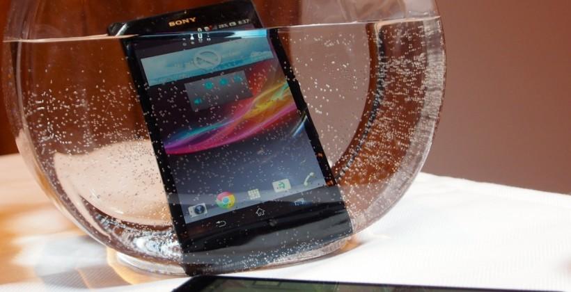 آیا گوشی های هوشمند سونی ضد آب نیست ؟