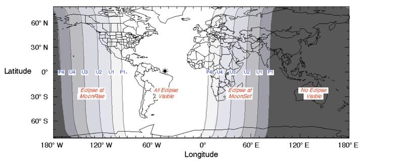بر اساس گفته های ناسا در خصوص این ماه گرفتگی، این ماه گرفتگی برای افرادی که در آمریکای جنوبی و یا سواحل شرقی ایالات متحده قرار دارند در بهترین حالت خود قابل مشاهده است و ماه، تن سرخ رنگ خود را در این مناطق، تمام و کمال به نمایش می گذارد. شروع این ماه گرفتگی در ساعت 8 شب یک شنبه به وقت منطقه زمانی شرقی (به وقت ایران، ساعت 3 و 30 دقیقه صبح روز دوشنبه) و هنگامی که سایه زمین شروع به خزیدن بر روی ماه می کند، خواهد بود و ماه گرفتگی کامل نیز از ساعت 10 و 11 دقیقه شب یک شنبه به وقت منطقه زمانی شرقی (به وقت ایران، ساعت 5 و 41 دقیقه صبح روز دوشنبه) می باشد و در ساعت 6 و 17 دقیقه صبح روز دوشنبه به وقت ایران (10:47PM ET) به اوج خود خواهد رسید. این فاز سرخ رنگ 1 ساعت و 11 دقیقه به طول خواهد انجامید، پس انتظار می رود که بعد از ساعت 7 صبح به وقت ایران (ساعت 11:30 دقیقه شب یک شنبه به وقت منطقه زمانی شرقی)، دوباره ماه خاکستری رنگ خودمان را در آسمان مشاهده کنیم.