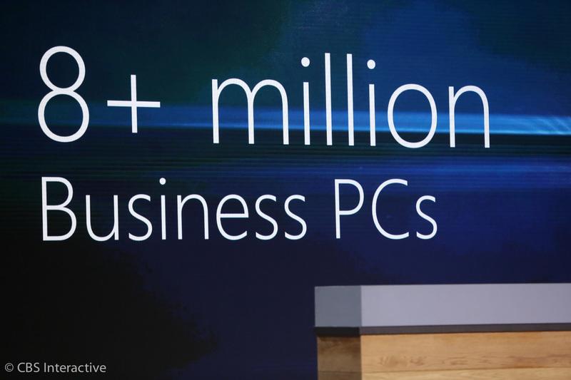 """ساعت 17:39 : """"بیش از 8 میلیون کامپیوتری سازمانی ویندوز 10 را اجرا می کنند."""" """"نسبت به نسخه های قبلی ویندوز، کسب و کار ها و سازمان ها با سرعت بیشتری به ویندوز 10 روی می آورند."""""""
