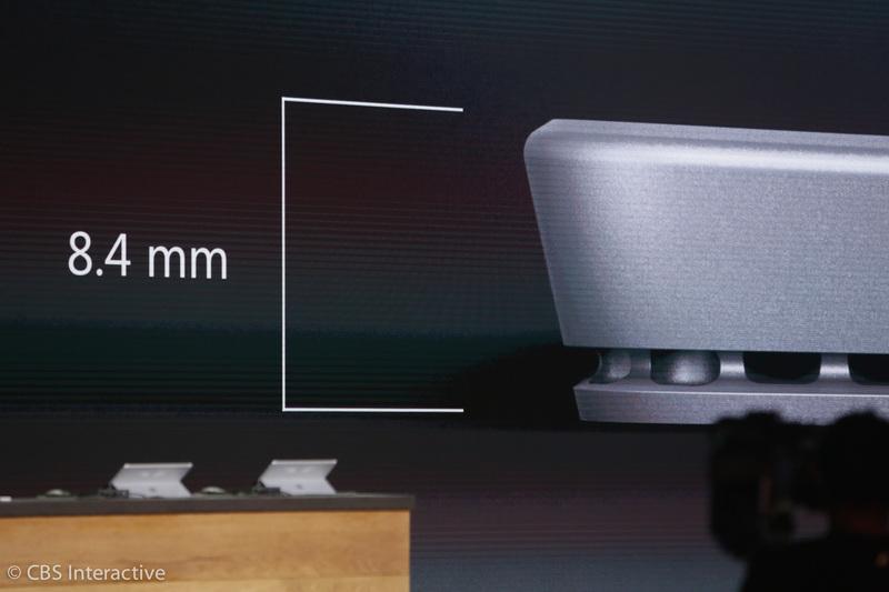 """""""ضخامت آن نیز از 9.1 میلی متر به 8.4 میلی متر کاهش یافته است."""" حافظه داخلی، صفحه نمایش و مموری و ... بهتر آن هم در یک دستگاه و بسته بندی سبک تر و نازک تر."""