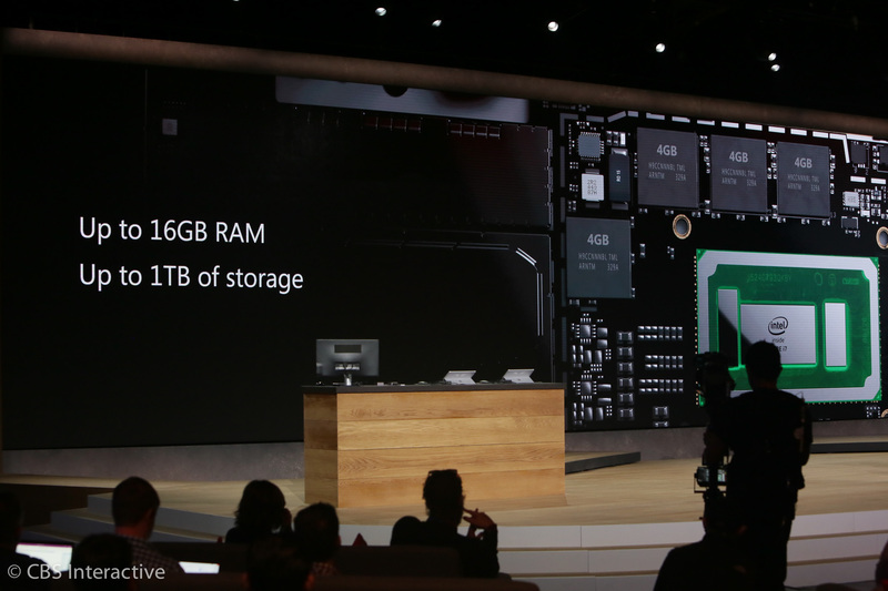 """""""سرفیس پرو 4، 50 درصد از مک بوک ایر سریع تر است."""" """"سرفیس پرو 4، یک ترابایت حافظه داخلی دارد و رم آن نیز 16 گیگابایت است."""""""