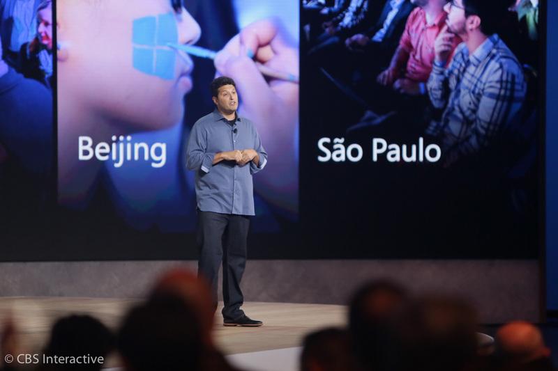 """""""بیش از 110 میلیون دستگاه ویندوز 10 را اجرا می کنند...، آن ها 650 میلیارد صفحه وب را از طریق مرورگر جدید ما، اج، مشاهده کرده اند... آن ها از دستگاه های اکس باکس خود حدودا 120 سال گیم پلی به دستگاه های ویندوز 10 خود استریم کرده اند... آن ها بیش از 1 میلیارد بار از کورتانا سوال پرسیده اند ... بیش از 1.25 میلیارد بار از اپ استور مایکروسافت دیدن کرده اند... از زمان ارتقا به ویندوز 10 توسعه دهندگان درآمدشان 4 برابر شده است... """""""