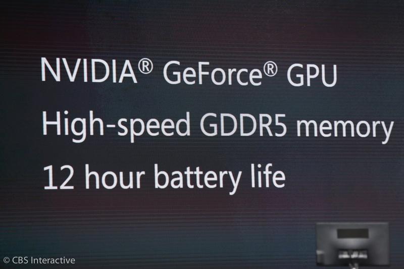 ساعت 18:54 : این لپ تاپ از پردازنده گرافیکی Nvidia GeForce استفاده می کند. طول عمر باتری آن 12 ساعت می باشد.
