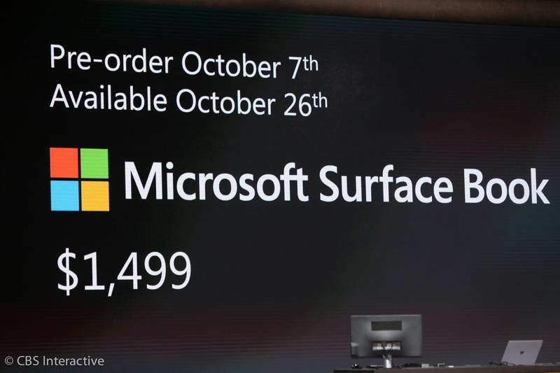 ساعت 19:01 : سرفیس بوک با قیمت پایه 1499 دلار برچسب گزاری شده است و از 26 اکتبر در دسترس قرار می گیرد. پیش فروش آن نیز از فردا شروع خواهد شد.