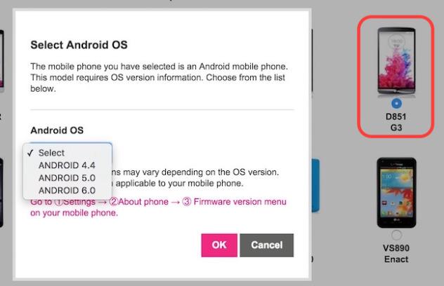اندروید 6.0 در دو مدل از این گوشی ها ذکر شده است.