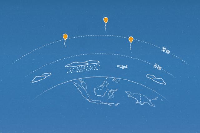 گوگل امیدوار است اندونزی را با بالن اینترنت به وب متصل کند