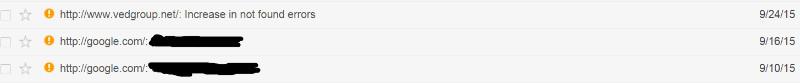 علاوه بر آن، کنسولِ گوگل سرچ من (گوگل وبمستر تولز) با پیام های خودکار وبمستر  در رابطه با دامنه گوگل دات کام، به روز شده بود که در واقع به این معنی بود که مالکیت آن به من انتقال یافته است.