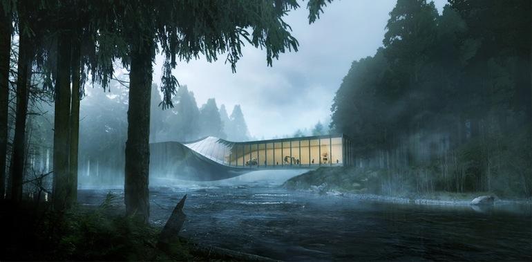 طراحی خارق العاده موزه ای در نروژ با پیچ 90 درجه در وسط آن