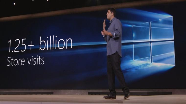 تری مایرسون(Terry Myerson)، یکی از مدیران ارشد مایکروسافت گفت که 650 میلیارد از صفحات وب بر روی مرورگر جدید شرکت، اِج(Edge)، مشاهده شده است.