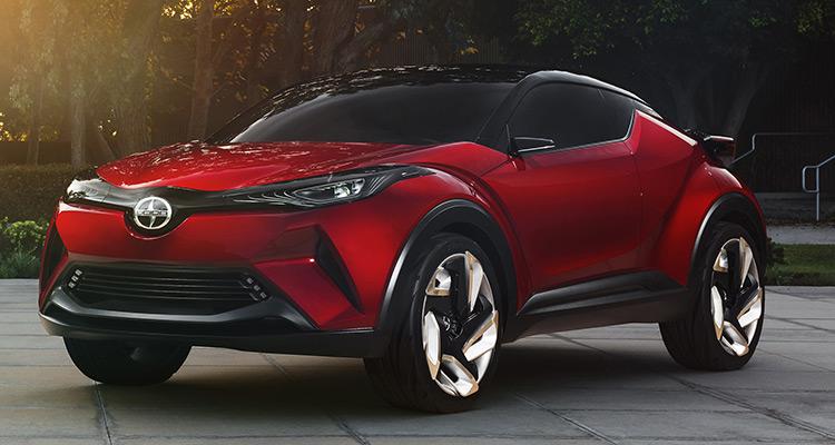 Scion C-HR  درحالی که Scion C-HR از لحاظ فنی یک خودروی مفهومی است. مدیران تویوتا تایید کرده اند که این مدل SUV کوچک برای نمایندگی های تویوتا در سراسر جهان در 2017 ارسال خواهد شد. تویوتا اعلام کرد Scion C-HR پنج نفره بوده و در حدود 25,000 دلار قیمت گذاری شده است.