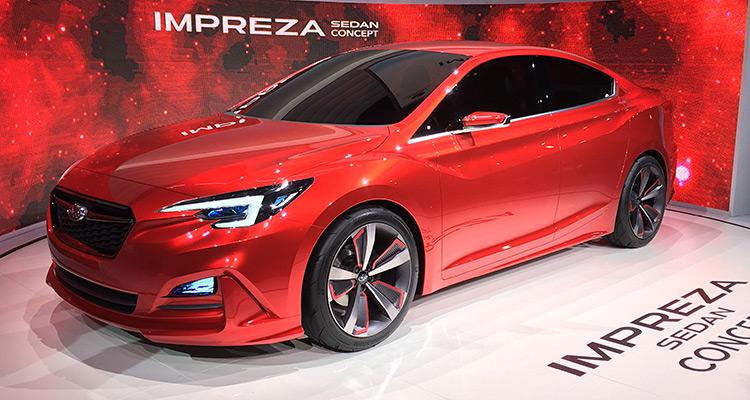 Subaru Impreza Sedan Concept  Impreza پس از آنکه یک کانسپت پنج درب را در نمایشگاه خودروی توکیو بنمایش گذاشت این بار در نمایشگاه اتوموبیل لوس آنجلس یک خودروی سدان جذاب را به روی صحنه آورد، کانسپتی که به احتمال زیاد در ایالات متحده بسیار محبوب خواهد شد.