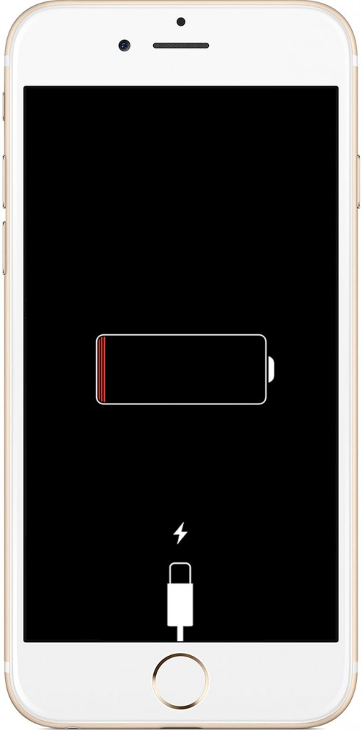 روی صفحه نمایش علامت اتصال به شارژر را دیدید