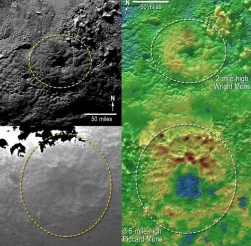 دانشمندان در گذشته نمونه هایی از آتشفشانهای سرد را در منظومه ی شمسی مشاهده کرده بودند، مخصوصا در قمرهای یخی مانند تریتون (Triton) و انسلادوس (Enceladus). آنها کاملا مشابه آتشفشان های کره ی زمین عمل می کنند با این تفاوت که فوران آنها به صورت مواد یخی و ذوب شده است و نه ماگمای داغ. در نتیجه ی فشار دافعه و جاذبه ی سیاره ی میزبان، اصطکاک و حرارت ایجاد می شود؛ این فشار در هسته ی قمر باعث متمرکز شدن حرارت و درنهایت منجر به  فوران مواد یخ زده می شود. زمانی که اندازه ی فشار داخلی به حد کافی برسد، آتشفشان مانند یک دریچه ی باز عمل کرده و دود و بخار آزاد می کند؛ که صدها درجه گرم تر از سطح منجمد است و زمانی که این مواد به سطح می رسند به سرعت یخ زده و منجمد می شوند.