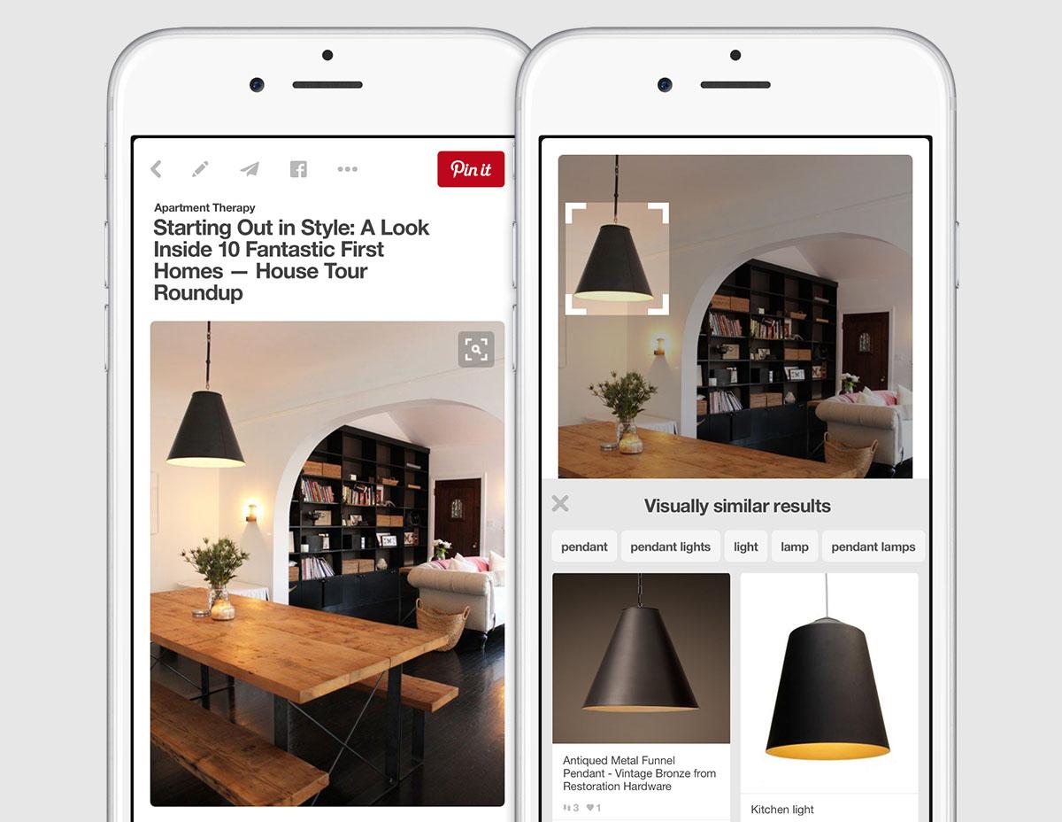 ابزار جستجوی بصری در پینترست