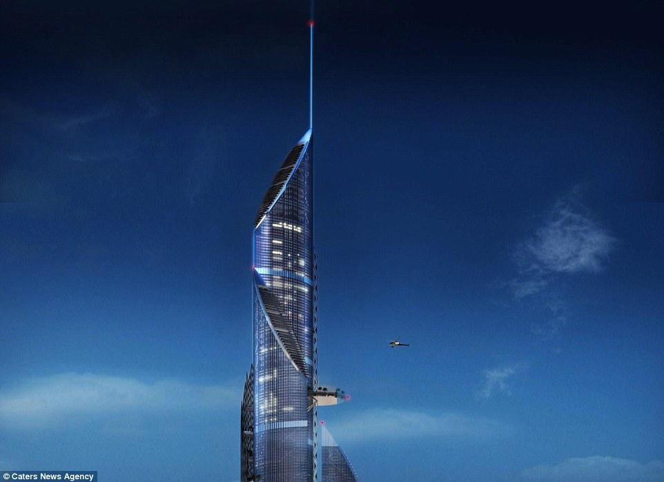 """ده ها هزار نفر از زندگی در آن و یا اطراف این برج لذت خواهند برد. شرکت AMBS می گوید """"راه رفتن درسایه درختان پارک ها و تفرجگاه های اطراف این سازه و صرف ناهار یا خرید کردن در صدها متر بالاتر از سطح دریا می تواند لذتی وصف نشدنی باشد."""""""