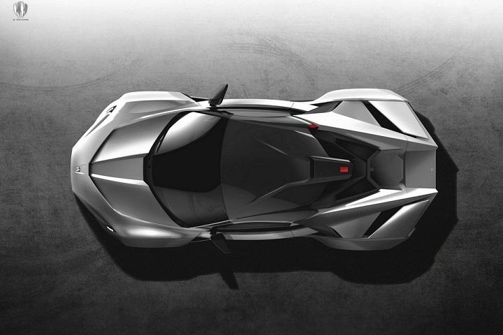 این موتور توانایی تولید حداقل 900 اسب بخار را دارد که بر روی یک شاسی آلومینیومی لوله ای سبک وزن سوار شده است. بدنه از فیبر کربن ساخته شده و قدرت در این خودروی موتور وسط، از طریق یک کلاچ دوگانه هفت سرعته به چرخ های عقب منتقل می شود.
