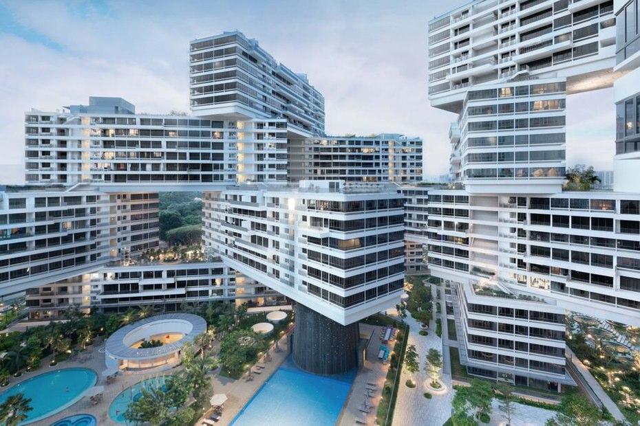 دهکده شش ضلعی عمودی در سنگاپور، برترین سازه معماری جهان در سال 2015