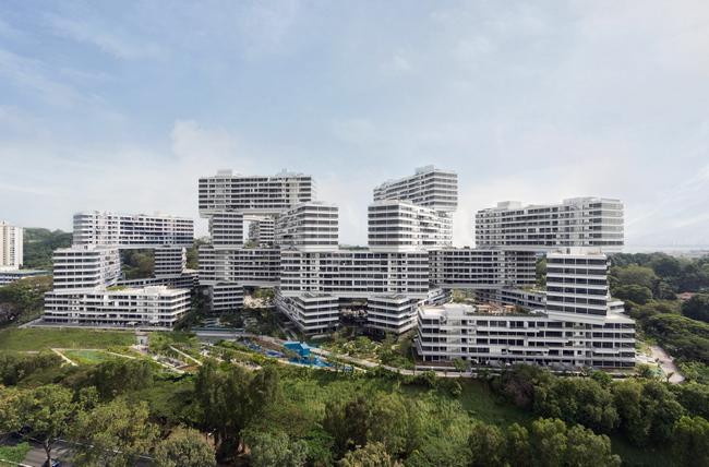 5 - دهکده شش ضلعی عمودی در سنگاپور، برترین سازه معماری جهان در سال 2015