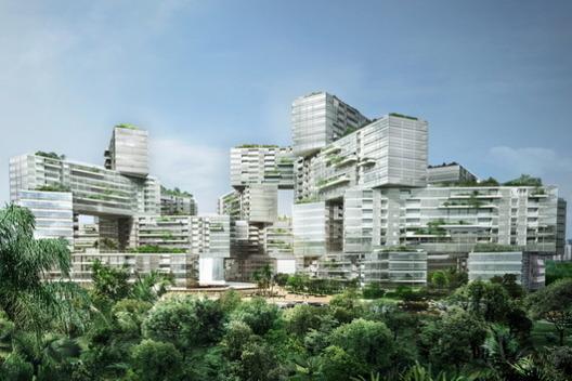 7 - دهکده شش ضلعی عمودی در سنگاپور، برترین سازه معماری جهان در سال 2015