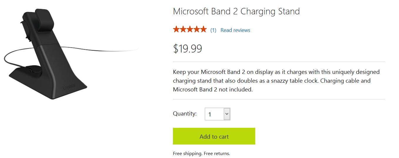"""این شارژر از ویژگی """"چسبندگی مغناطیسی"""" بهره مند می باشد و این بدان معناست که اتصال و قطع اتصال بند 2 به این شارژر با سهولت تمام قابل انجام است. قیمت این پایه شارژر، 19.99 دلار در مایکروسافت استور می باشد اما باید این را به خاطر داشته باشید که شامل کابل شارژ نمی شود."""