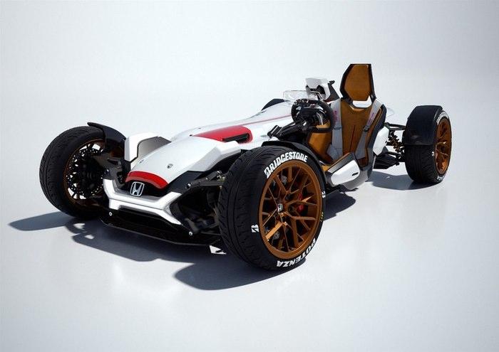 هوندا پروژه 2&4 یک خودروی باور نکردنی است که در نمایشگاه اتومبیل فرانکفورت نشان داده شد. قدرت در این موتور 999 سی سی V4، از طریق یک گیربکس شش سرعته و کلاچ دو گانه به چرخ ها منتقل می شود.